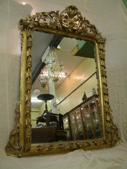 Large victorian gilt framed mirror 115304 for Victorian mirror
