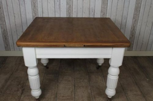 extendable farmhouse table. Victorian Pine Extending Farmhouse Table With Turned Legs Extendable