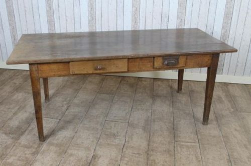 French Farmhouse Kitchen Table victorian fruitwood french farmhouse kitchen dining table | 256529