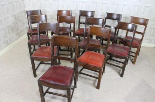 Set Of 12 Art Deco Dining Chairs 265328 Sellingantiquescouk