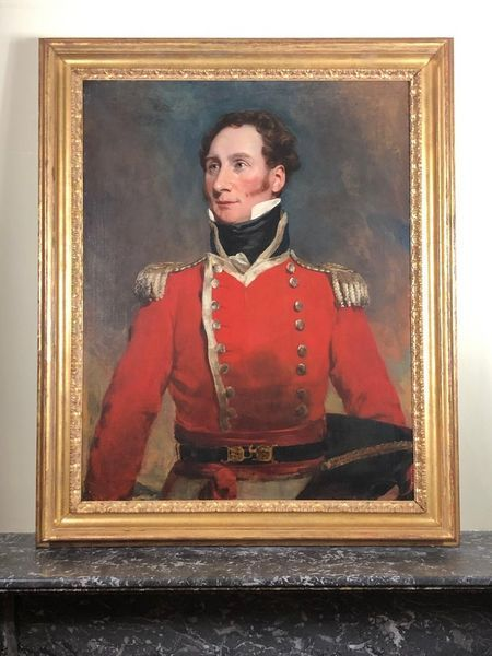 early 19th century portrait of a senior field offcer attributed to george henry harlow ra