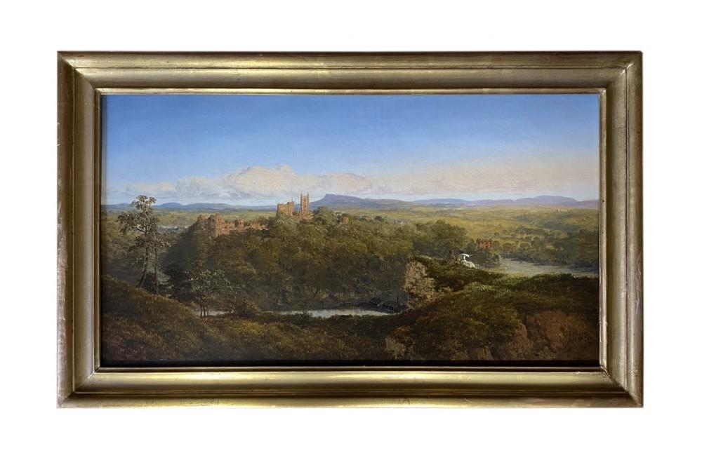 19th century landscape of ludlow castle by edmund john niemann 18131876