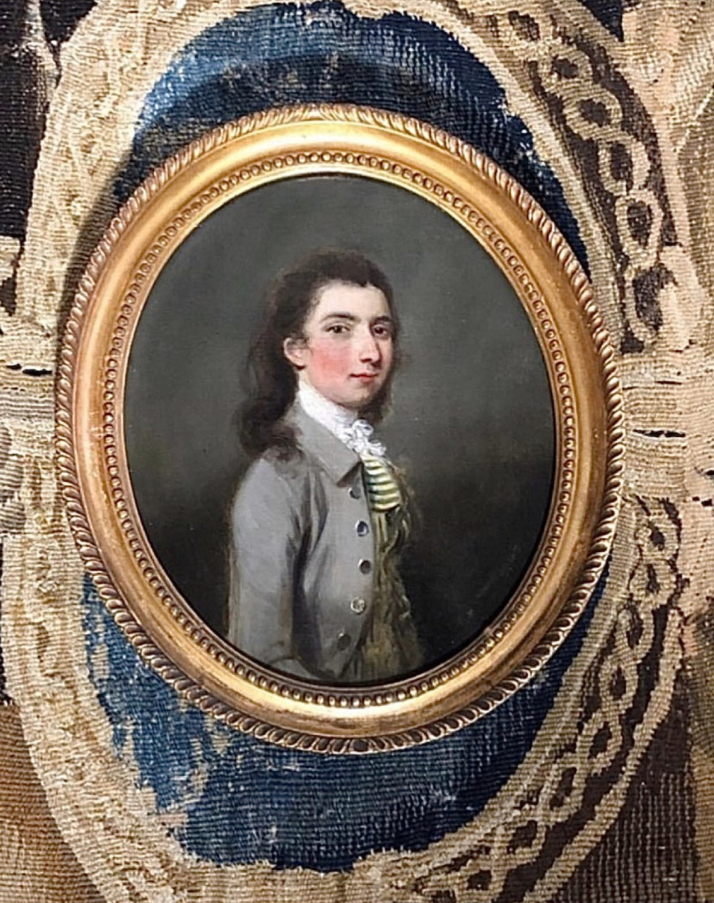 18th century oil portrait of a young gentleman attributed to thomas hickey