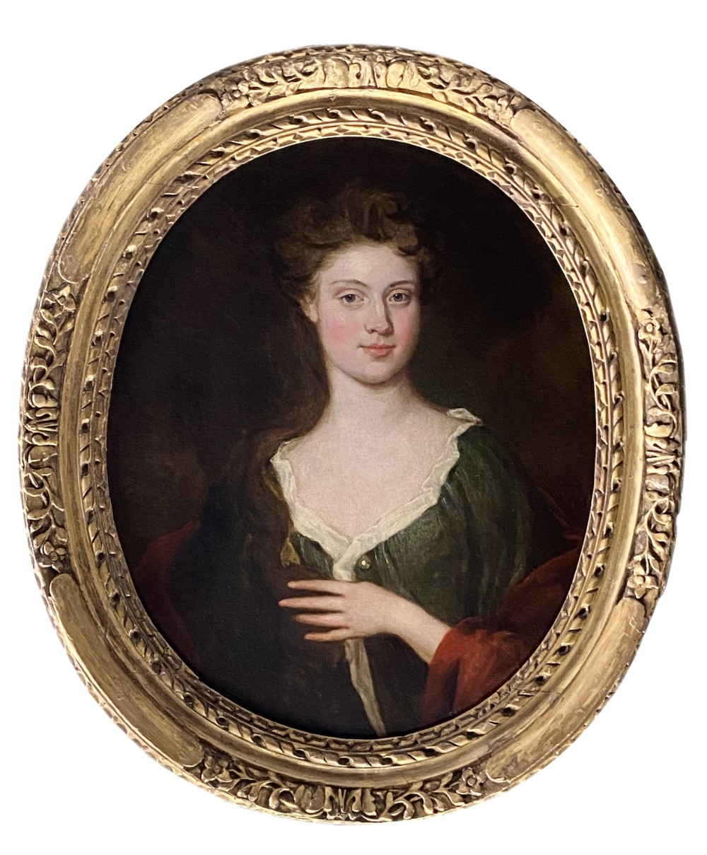 late 17th century english portrait of a lady c1695 circle of sir godfrey kneller 16461723