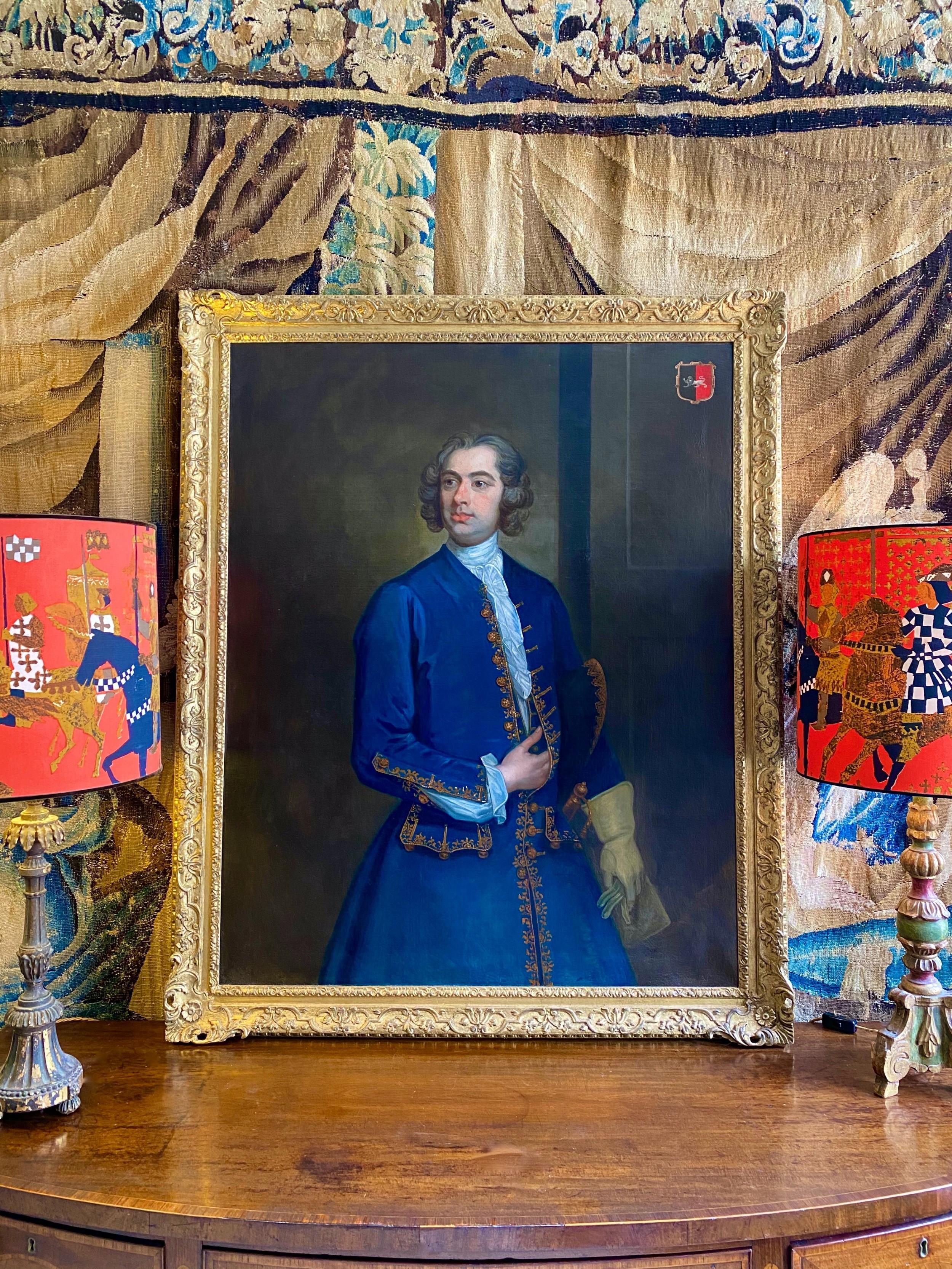portrait of john neale of allesley park c1730 circle of william hogarth