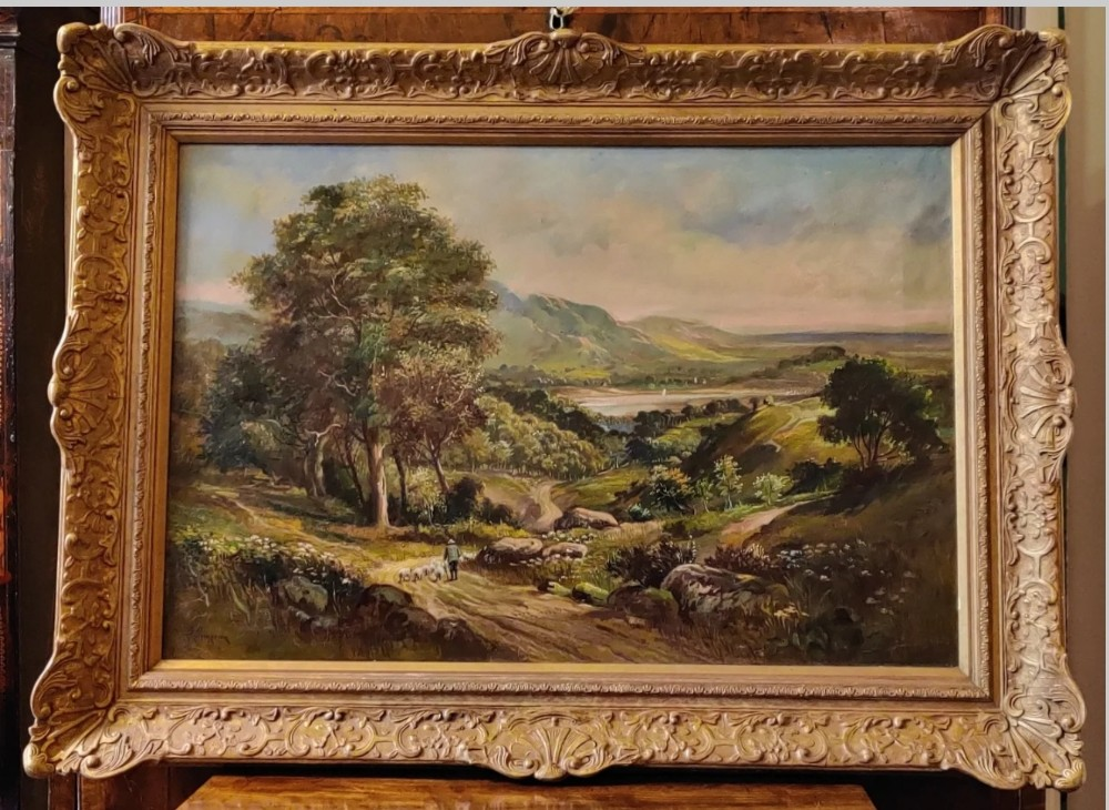 a fine oil on canvas by noted scottish artist duncan cameron circa 1895