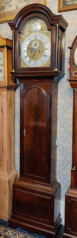 georgian english figured mahogany longcase clock