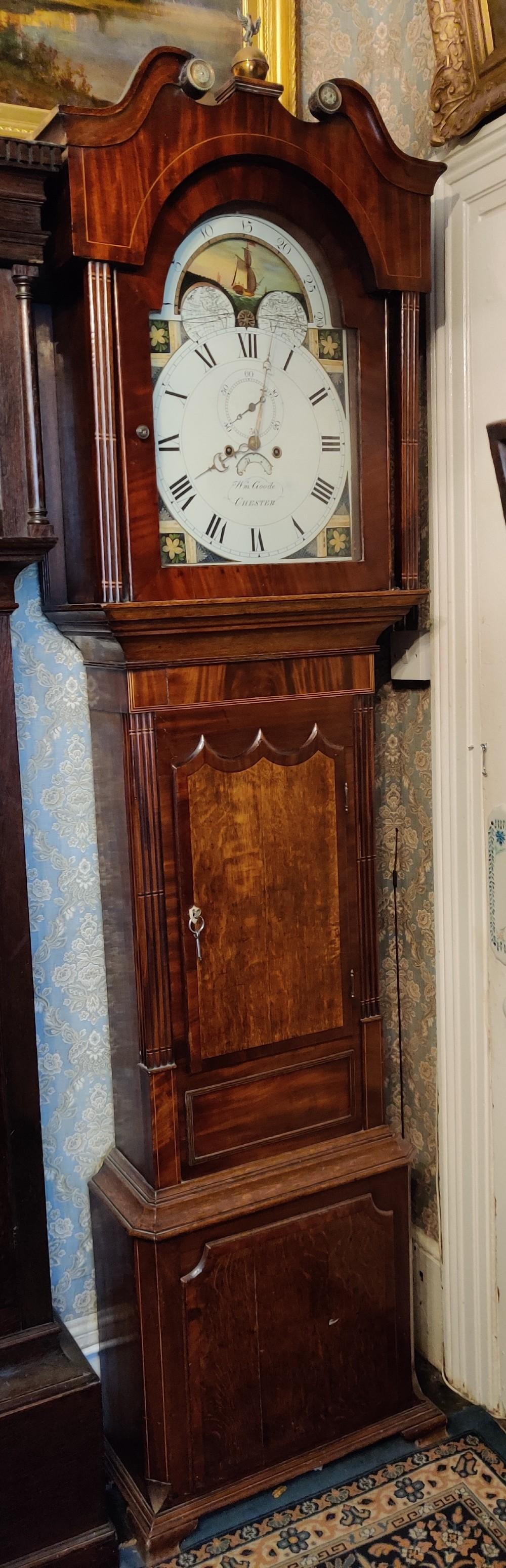 19th century english oak longcase clock