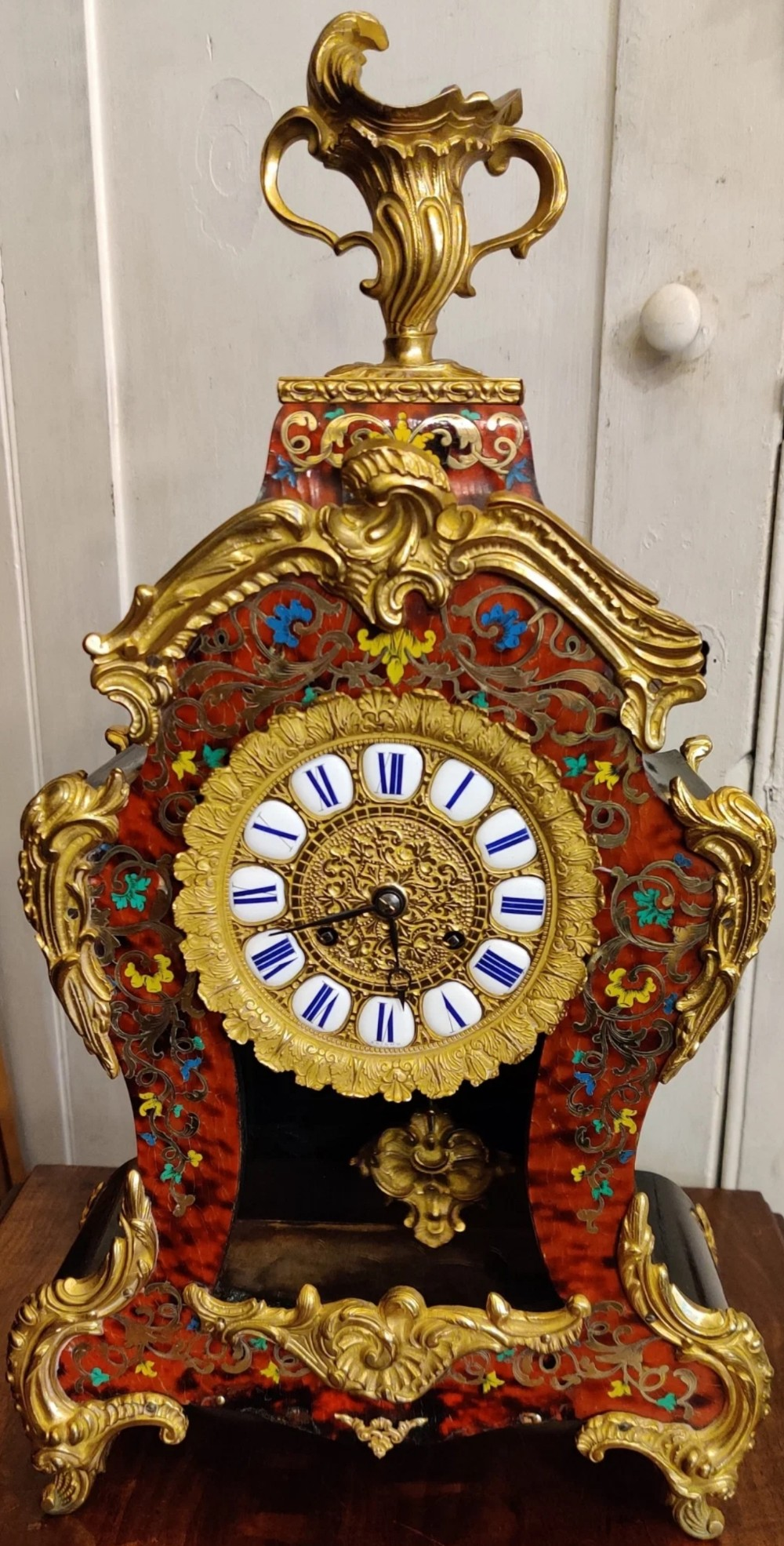 a boulle gilt bronze french mantle clock