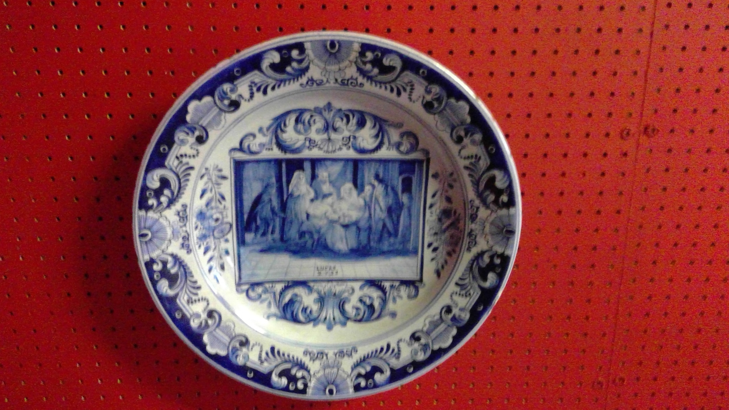 rare delftware charger