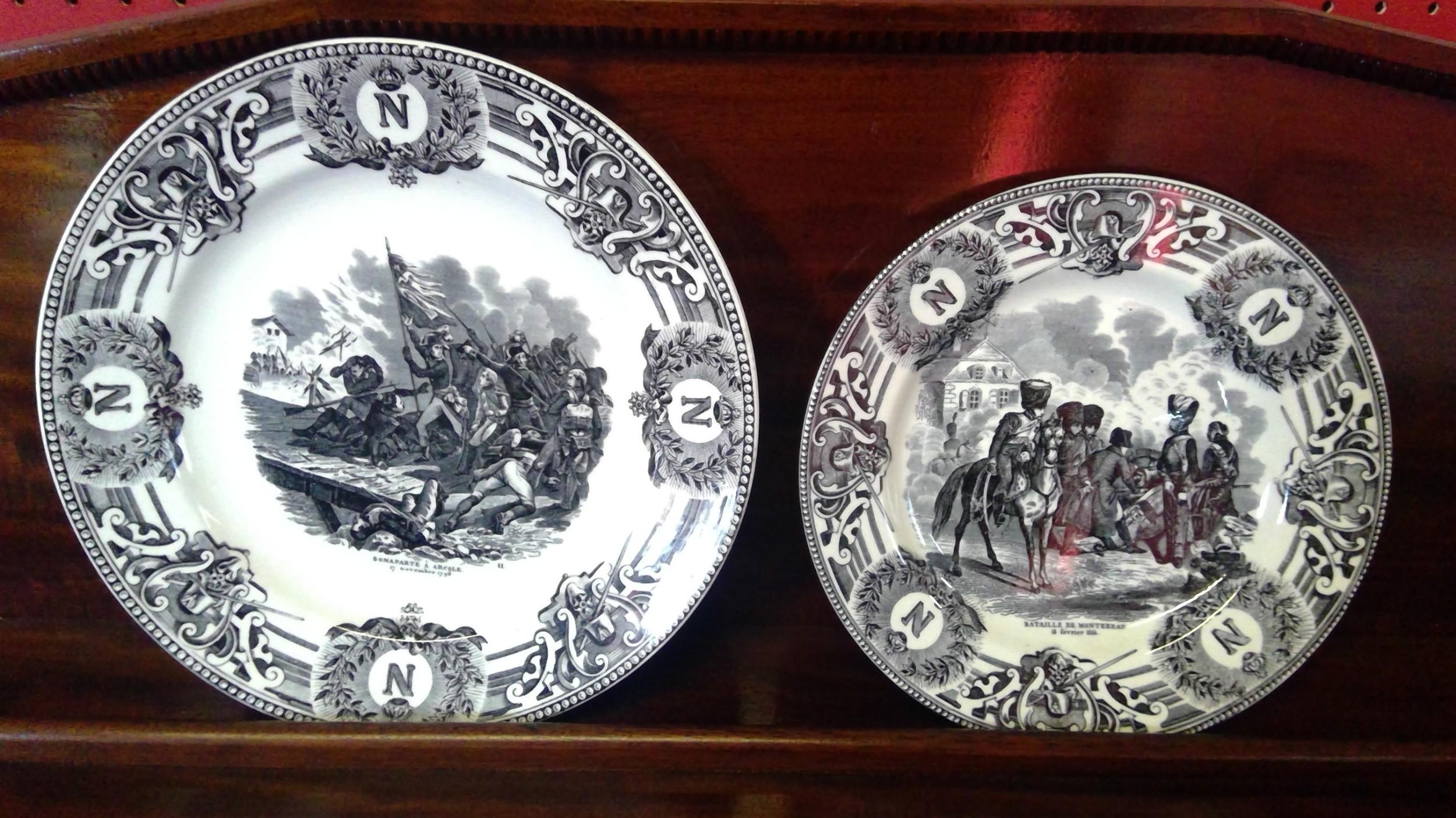 napolean bonarparte antique pottery plates
