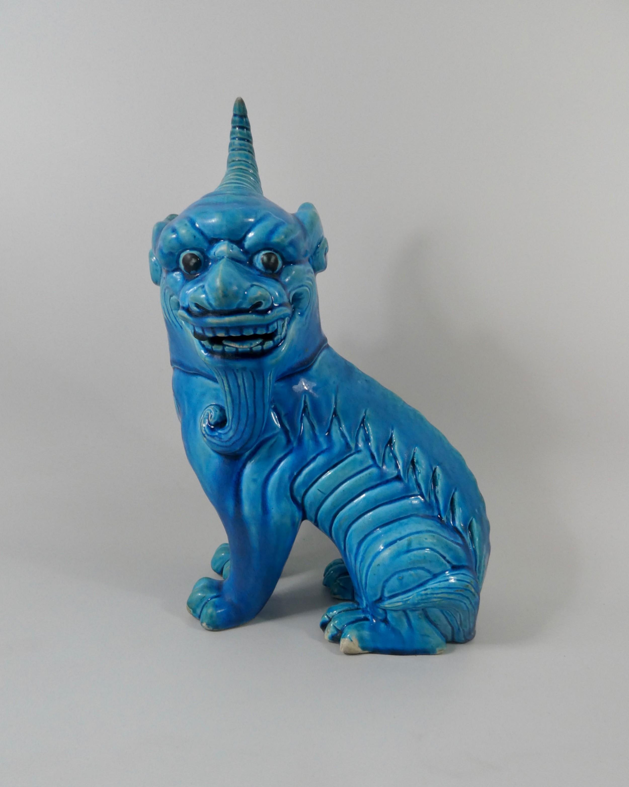 chinese porcelain turquoise glazed qilin c1880 qing dynasty