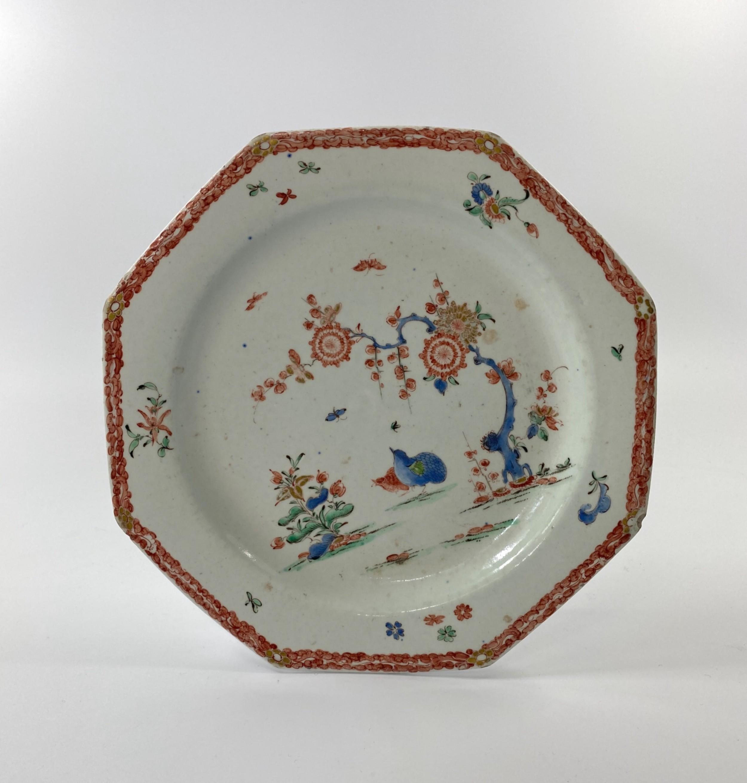 bow porcelain plate kakiemon two quail c 1755