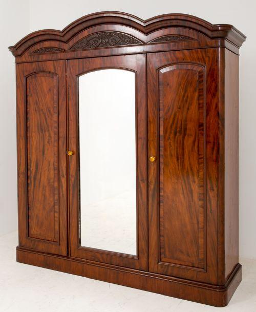mahogany 3 door gentlemans wardrobe