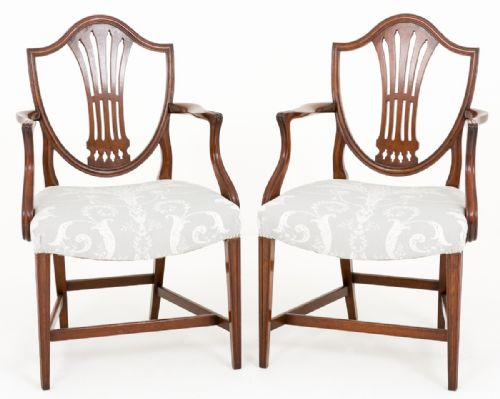 Philip Hunt Antiques · 18TH CENTURY FRENCH HEPPLEWHITE ARM CHAIR