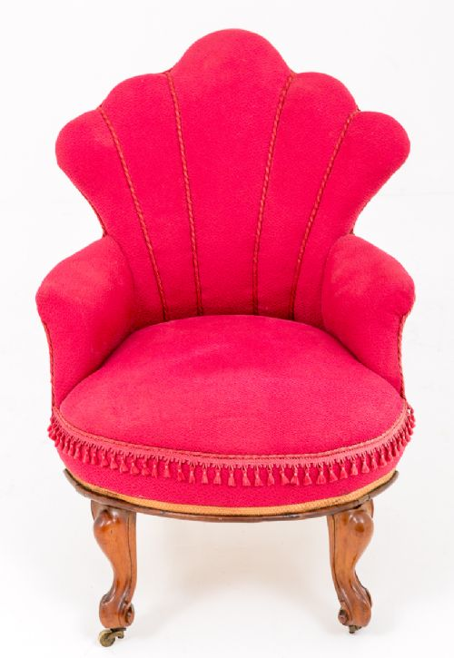 VERY PRETTY VICTORIAN ROSEWOOD OCCASIONAL CHAIR. £595. Dated 1860