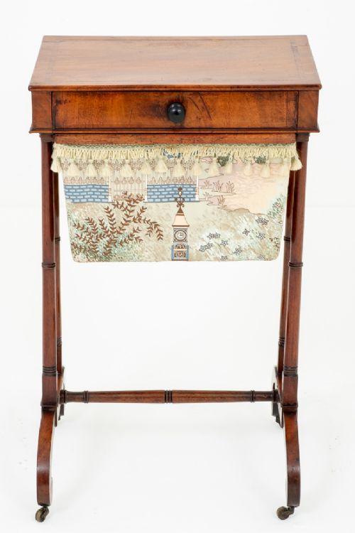 pretty regency mahogany sewing table