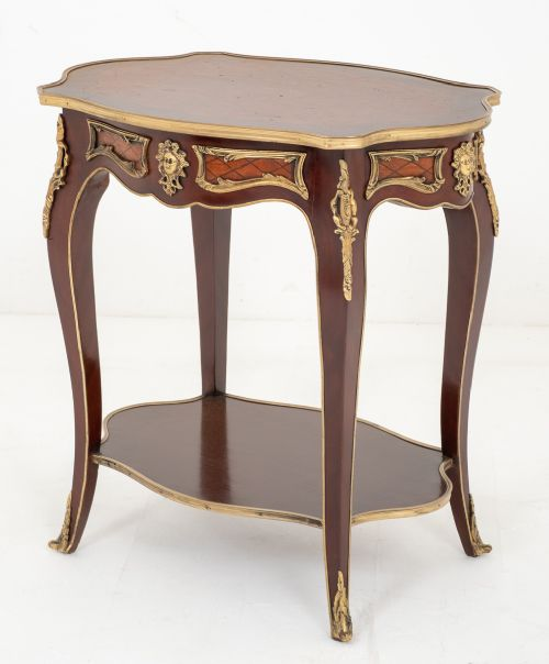 mahogany french occasional table