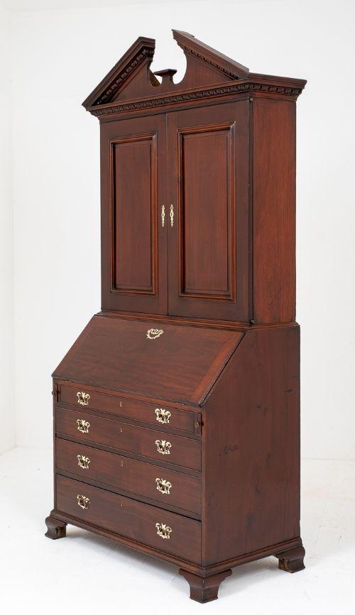 george ii mahogany bureau bookcase