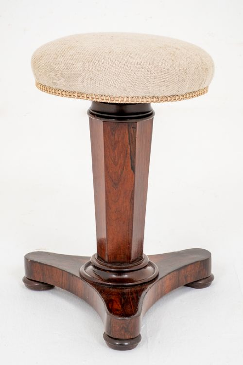 early victorian rosewood piano stool