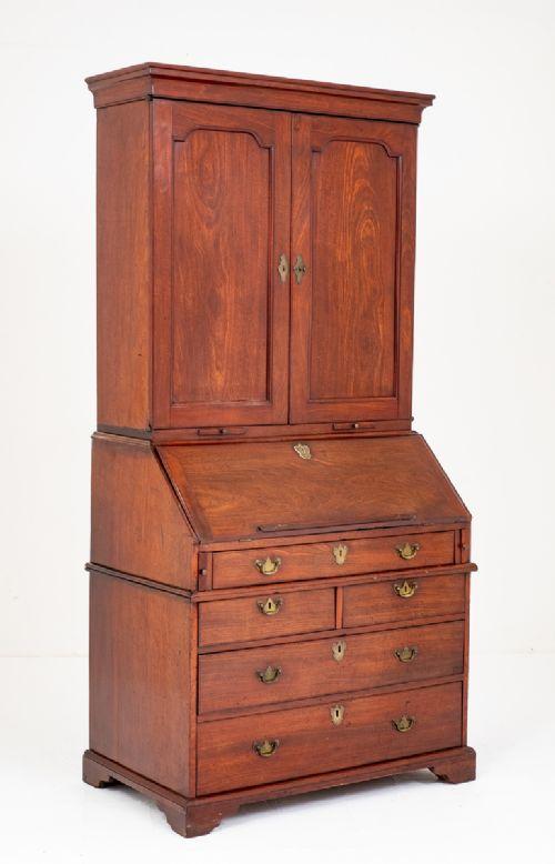 wonderful georgian mahogany bureau bookcase