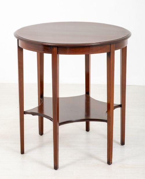 sheraton revival mahogany centre table