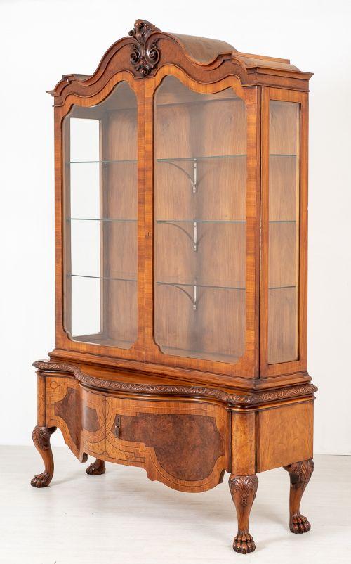 stunning walnut display cabinet