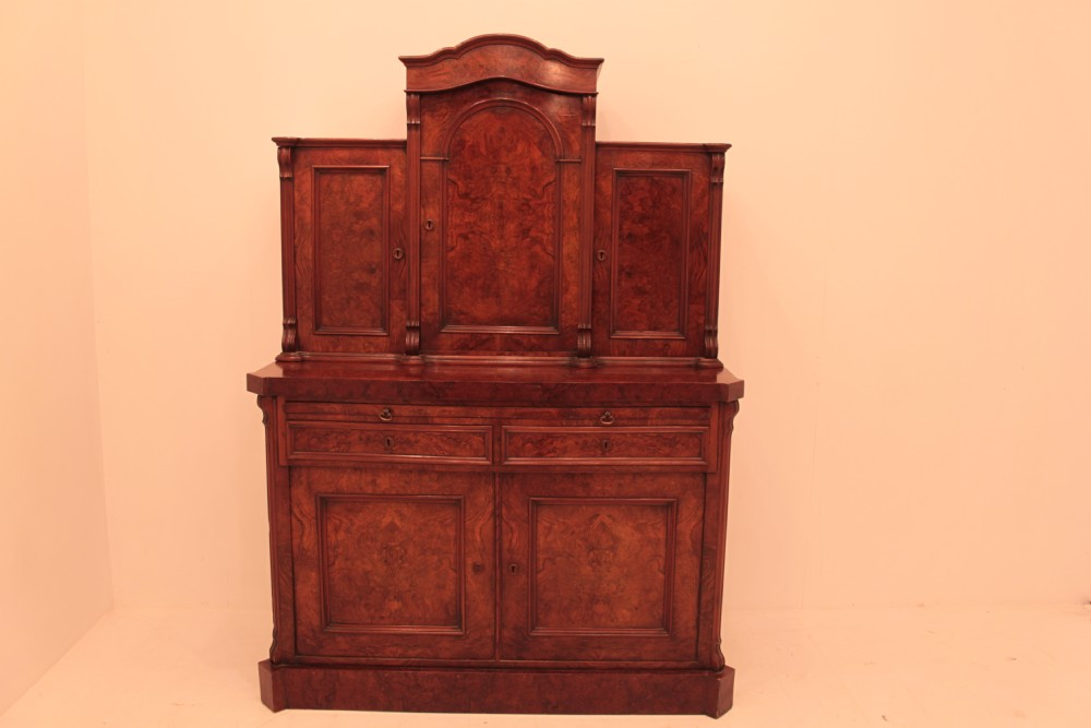 victorian burr walnut cabinet
