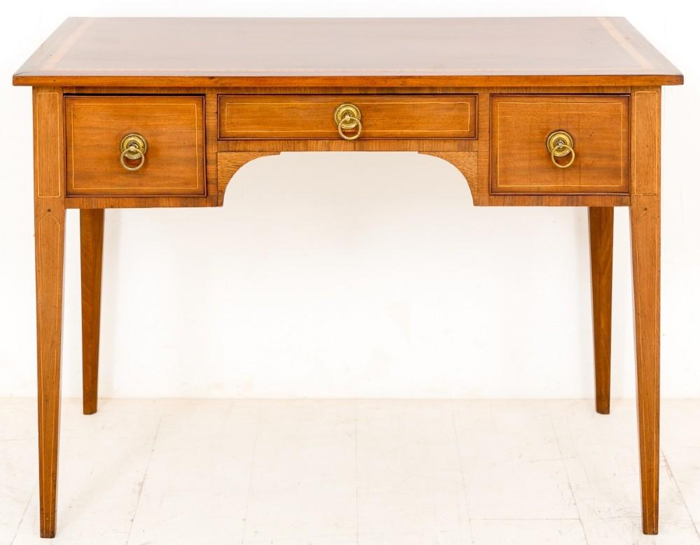 mahogany sheraton revival 3 drawer side table