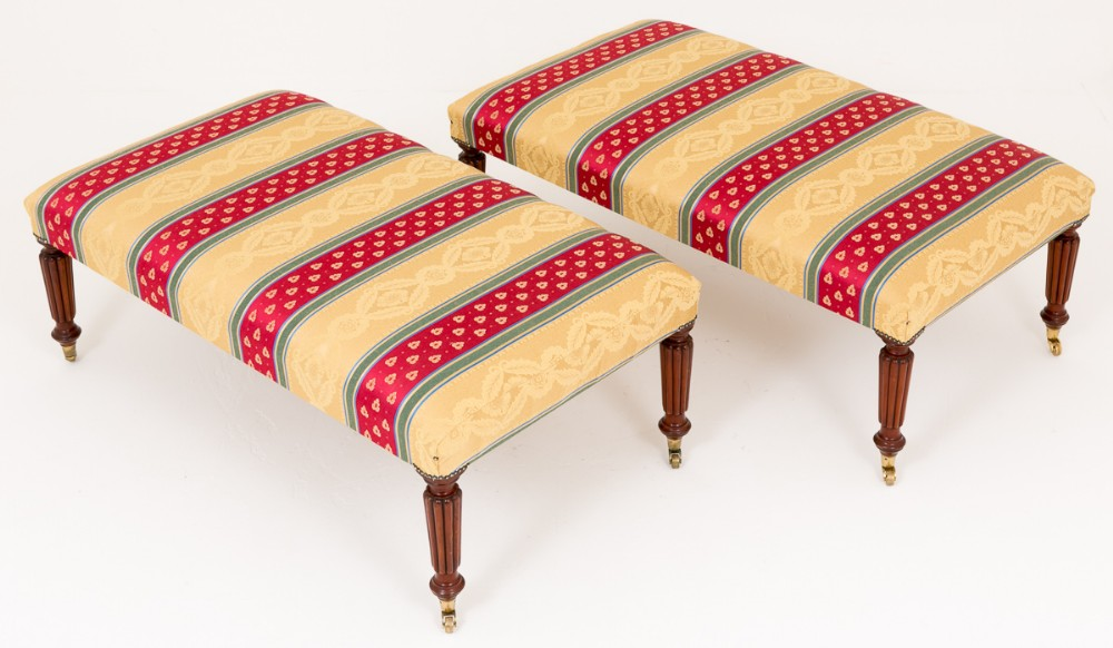 pair of william iv mahogany stools