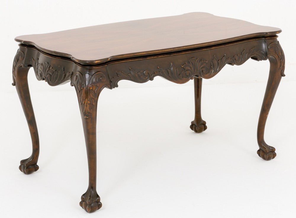 pretty mahogany coffee table in the chippendale style