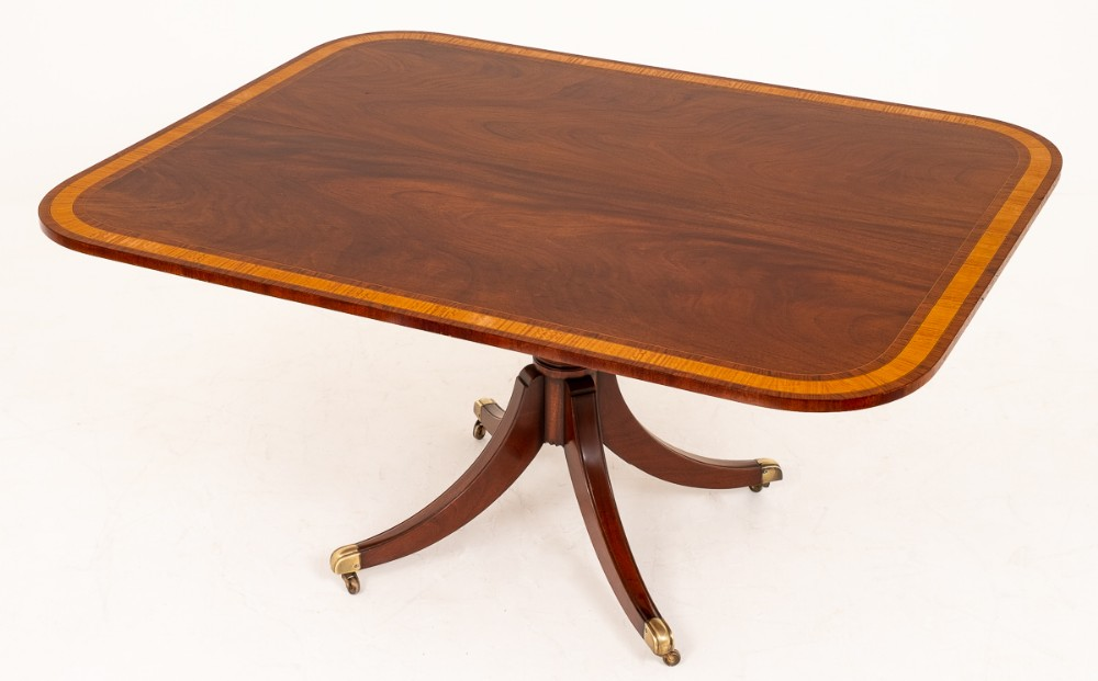 regency style mahogany breakfast table