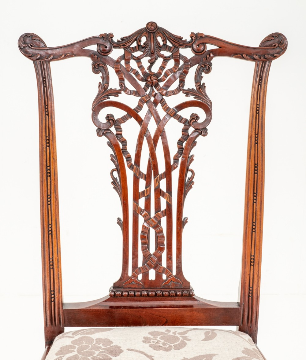 Set Of 10 Mahogany Ribbon Back Chippendale Style Dining Chairs 571566 Sellingantiques Co Uk