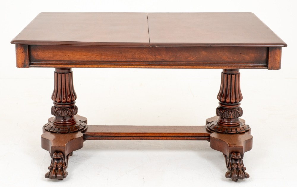 stunning and rare william iv mahogany carved extending dining table