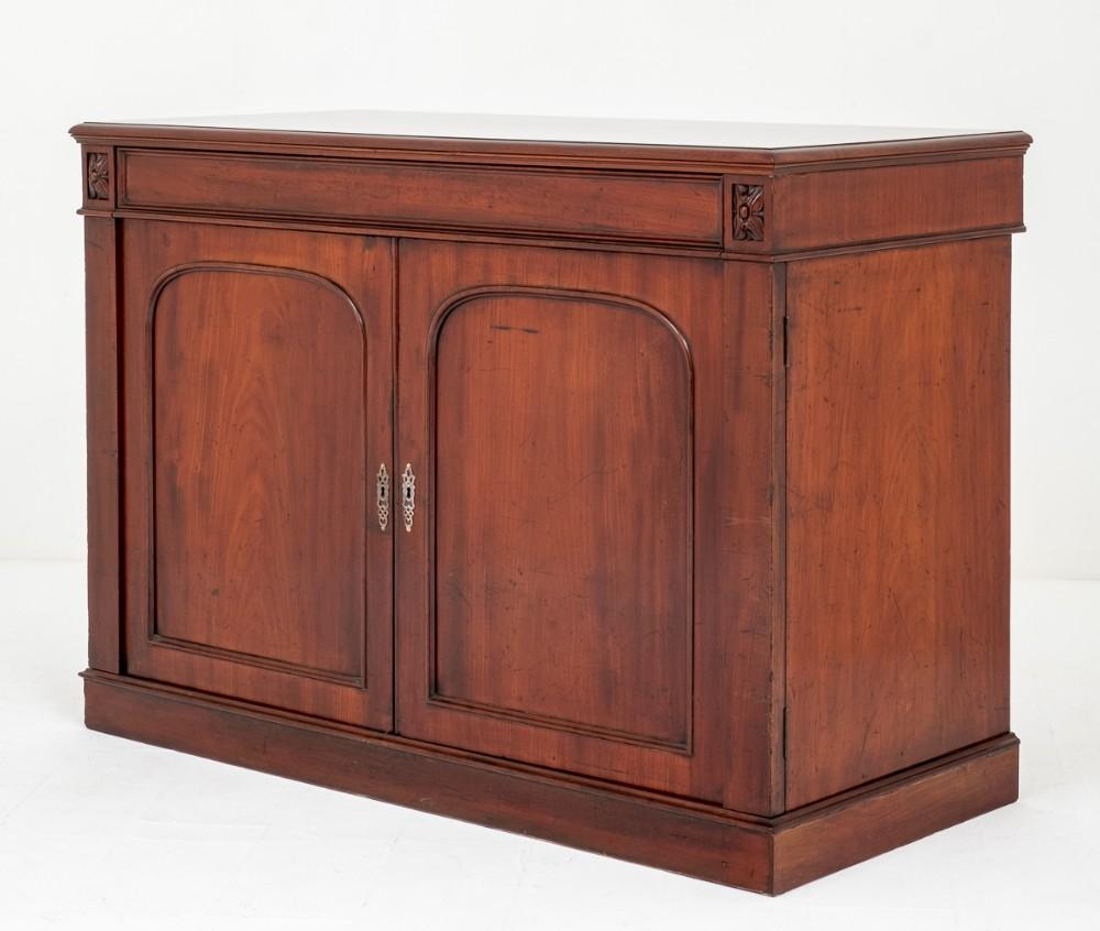william iv mahogany 2 door side cabinet