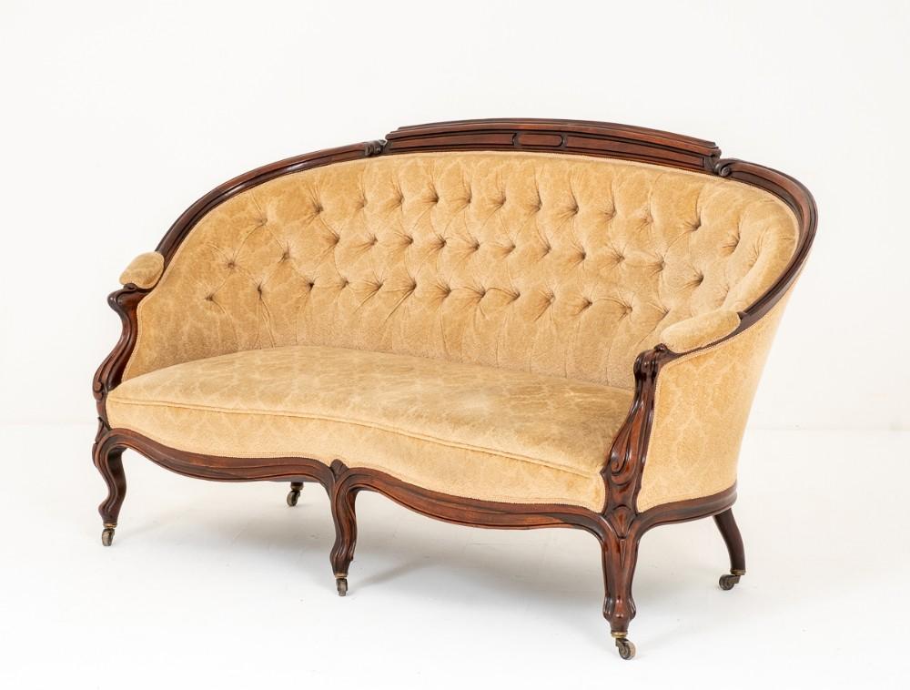 very pretty french mahogany settee