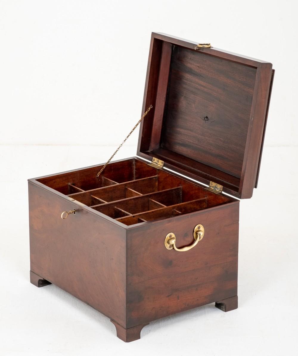 mahogany georgian wine storage box