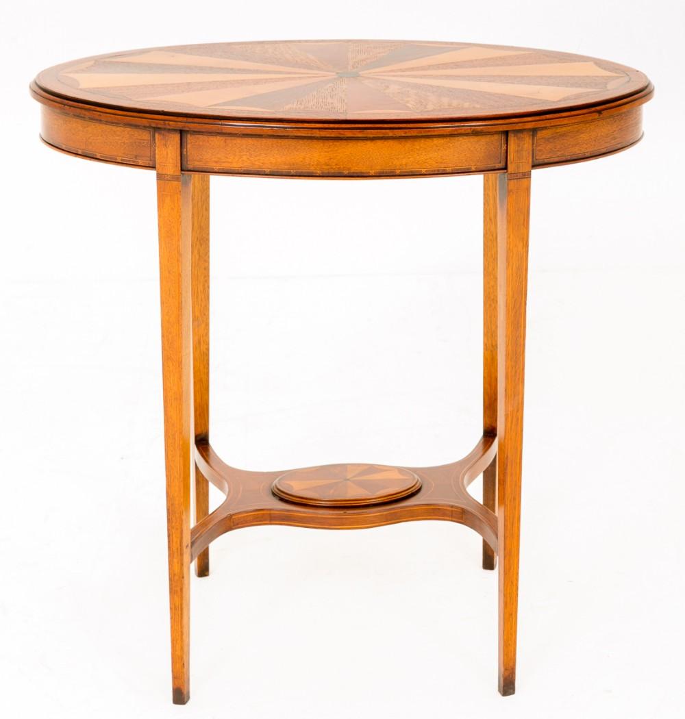 sheraton revival oval mahogany occasional table