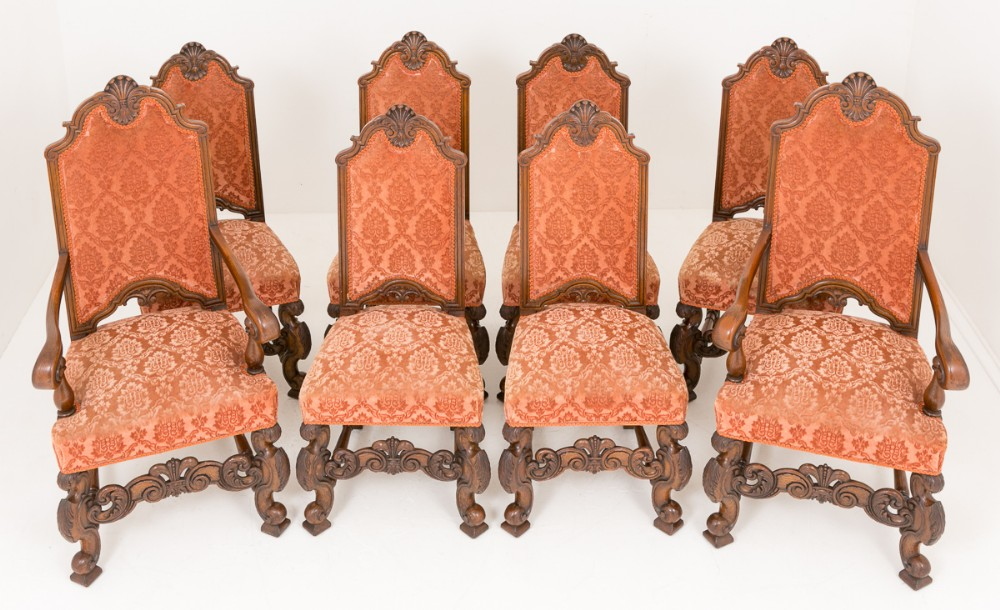 imposing set of 8 6 2 oak dining chairs