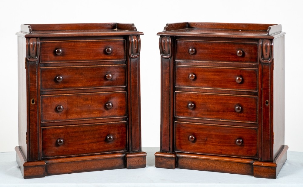 good pair of miniature chests