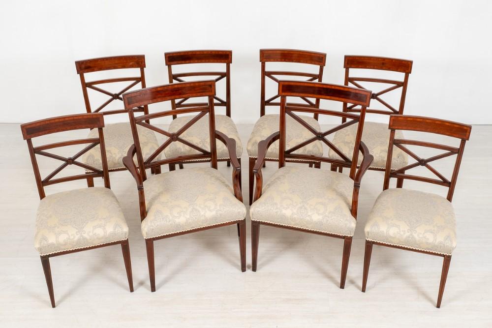 set of 8 6 2 sheraton revival mahogany dining chairs