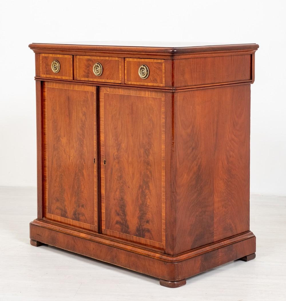 victorian mahogany 2 door side cabinet