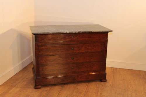 mahogany plum pudding french commode