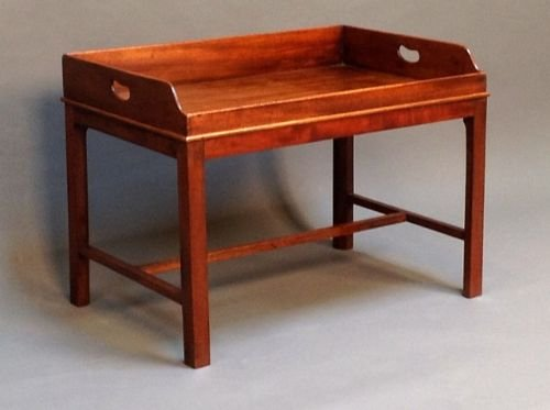 Merveilleux 19thc Mahogany Butlers Tray Coffee Table