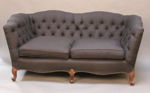 Attractive 19thc Two Seater Button Back Sofa