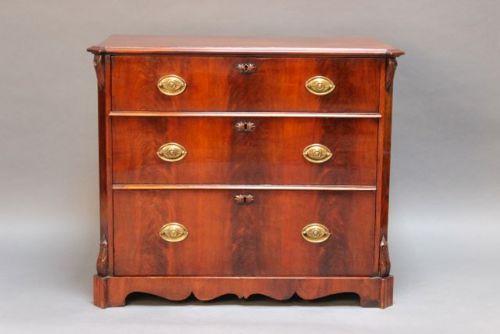 19thc mahogany north european chest of drawers