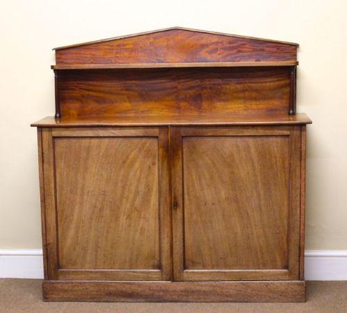 a 19thc mahogany chiffonierside cabinet