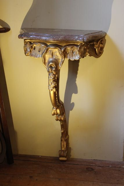 19thc giltwood console table