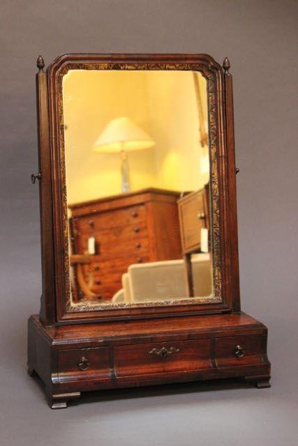 18thc walnut box mirror
