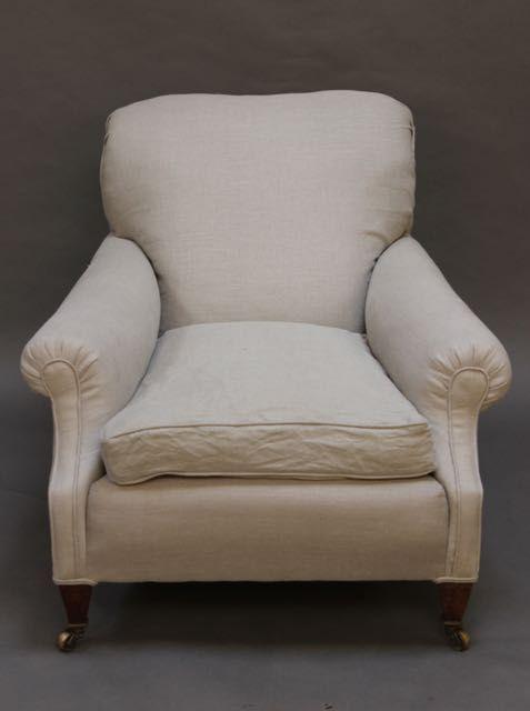 large 19thc howard style armchair